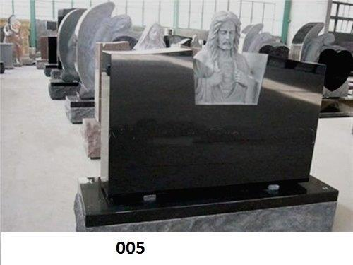 Black Granite Tombstones P200090B