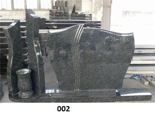 Black Granite Tombstones Vase P202886B